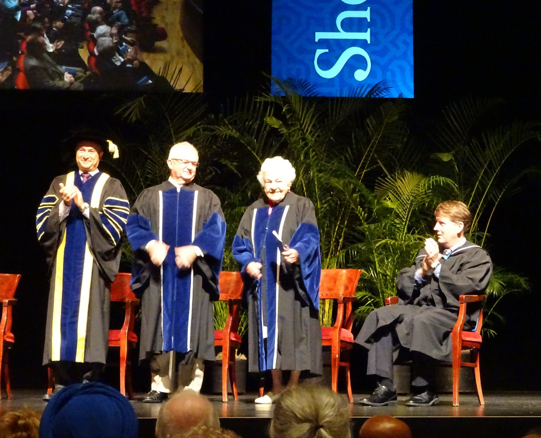 Dr. Jeff Zabudasky (President and Vice Chancellor), Bryan Dawson, Hazel McCallion, Jamie King