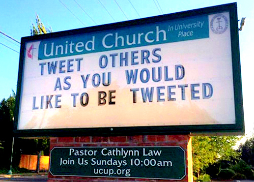 Tweet Others Church Sign image from email 9 Oct 2017