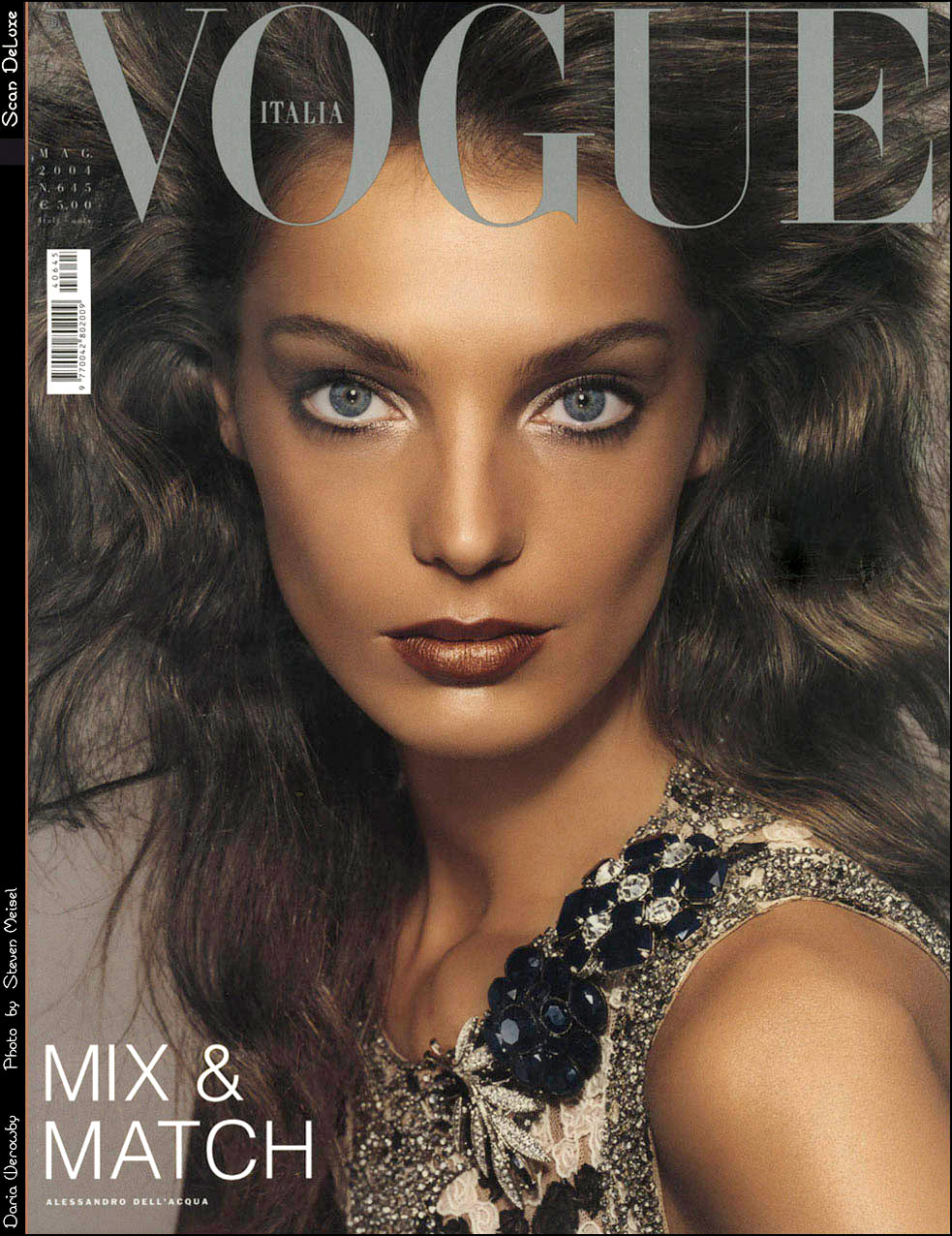 Daria Werbowy Italian Vogue Cover Photo by Steven Meisel May 2004