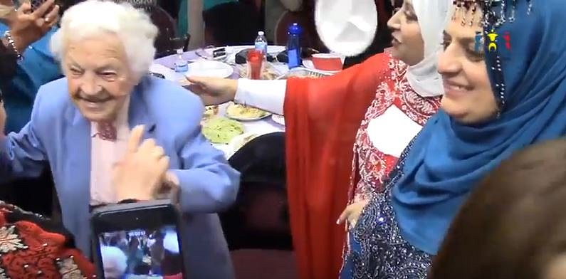Hazel McCallion dancing at Women of Diversity Celebrating Canada 150 Photo from YouTube video