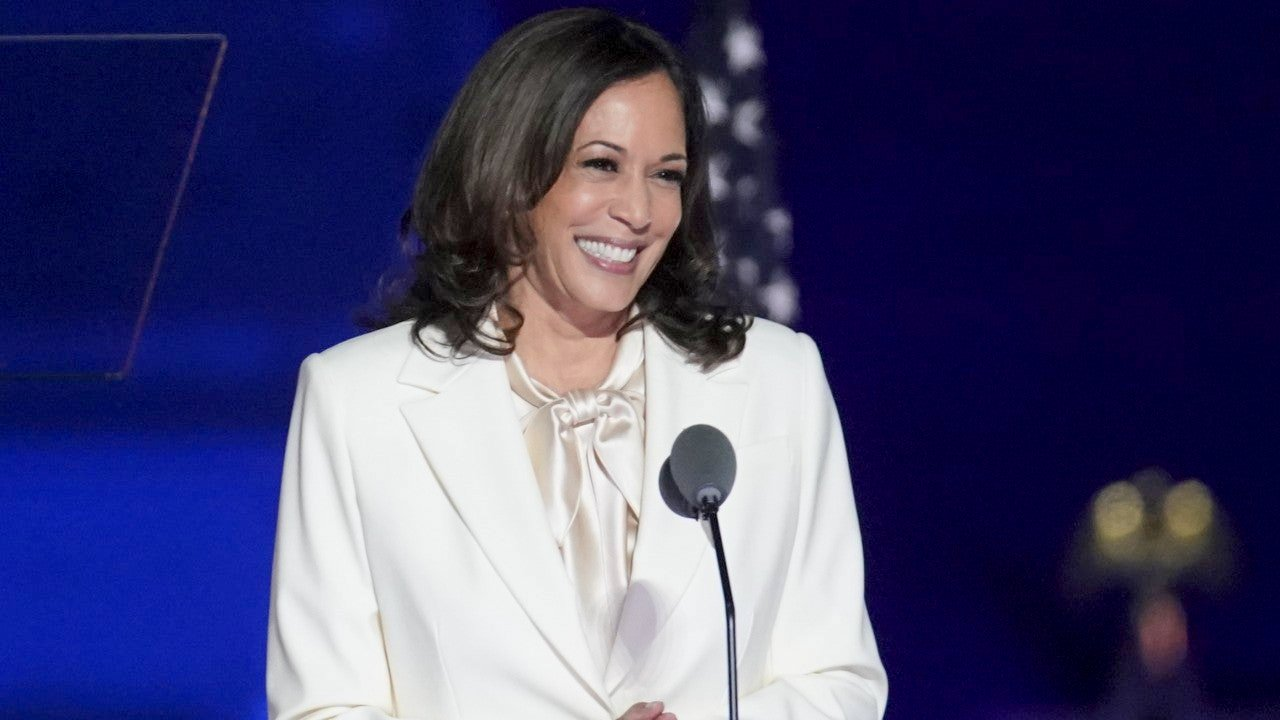 Sarah Silbiger/Bloomberg via Getty Images gettyimages-1229519794.jpg from https://www.etonline.com/kamala-harris-celebrates-historic-vice-president-win-in-inspiring-post-election-message-her-full