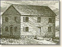 The Salem Village Meeting House where the trials took place image from http://www.eyewitnesstohistory.com/salem.htm
