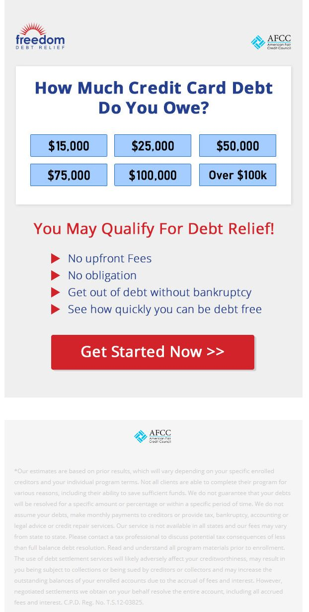 Freedom Debt Relief Dec 5 2019 email scam from propet.outletbonus.net