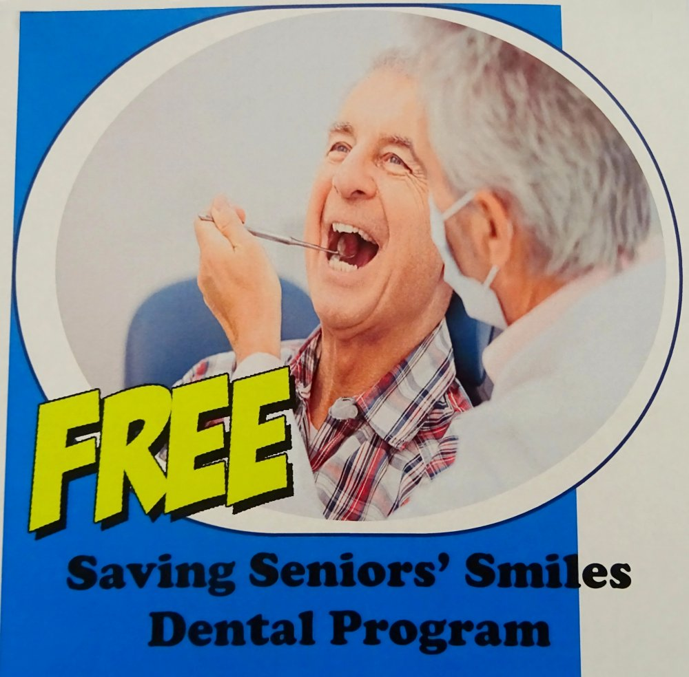 Saving Seniors' Smiles Dental Program image from Square One Older Adult Centre Bulletin Board 25Aug2016