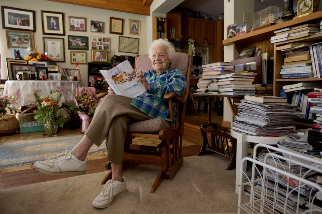 Hazel in Rocking Chair at Home. Photo credits: Keith Beaty, Toronto Star, 2014 Google image from https://www.thestar.com/news/insight/2014/10/24/hazel_mccallion.html