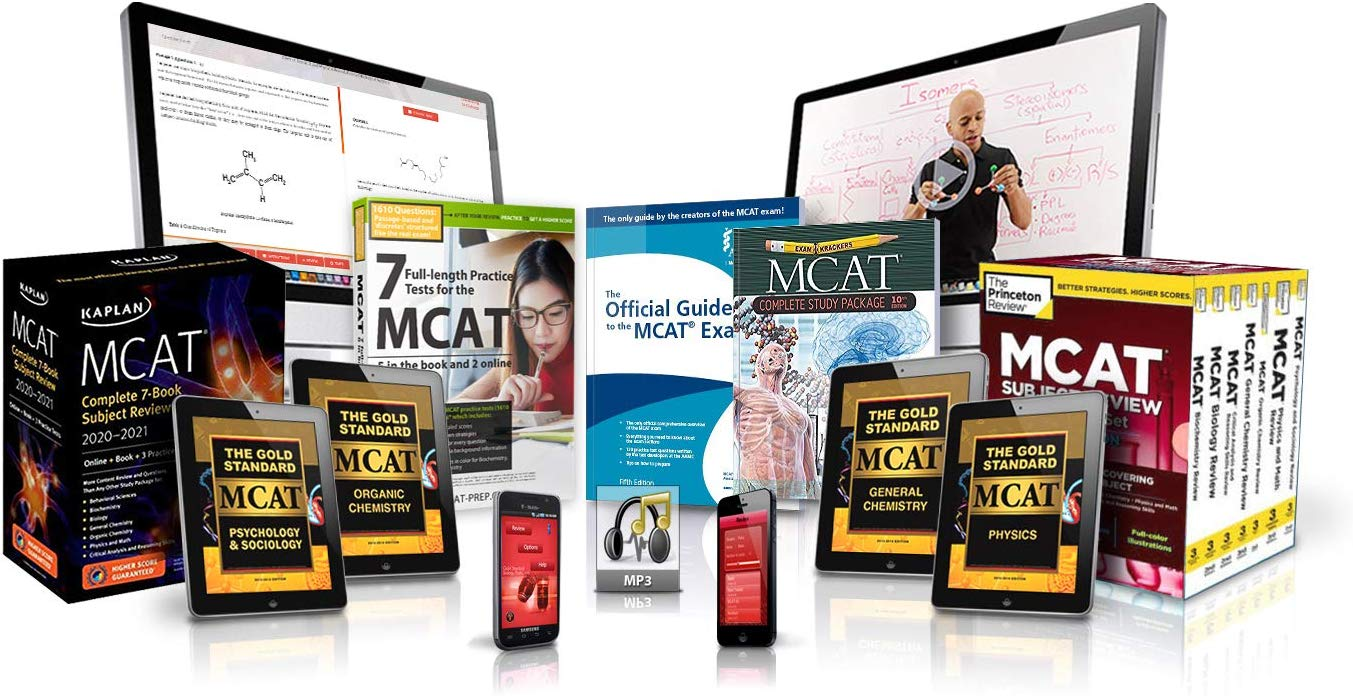 Gold Standard MCAT Prep Platinum Package with 20 full-length practice tests