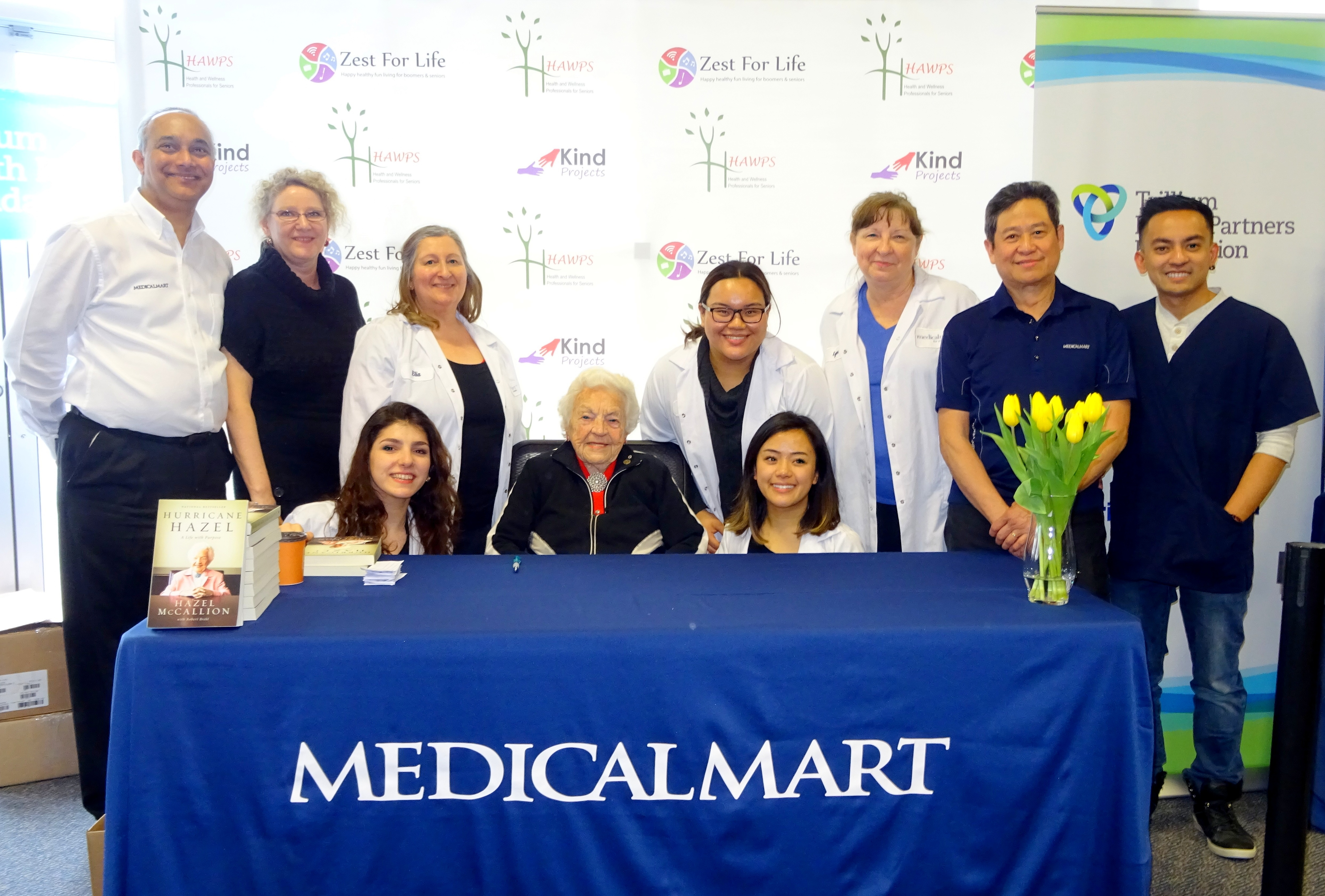 Medical Mart Staff with Hazel McCallion Photo by I Lee 25 March 2017
