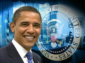 President Obama with United States of America Seal image from http://www.kvoa.com/news/obama-s-inaugural-address/