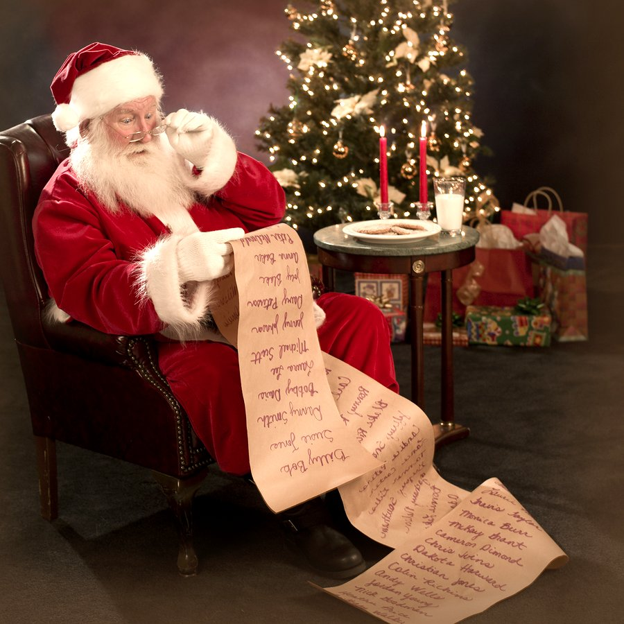 Santa Claus Reading Xmas Wish Google image from http://www.thebigredbox.co.uk/blog/wp-content/uploads/2010/11/bigstockphoto_Santa_Reading_Christmas_Wish_L_878150.jpg