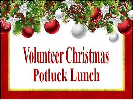 Volunteer Christmas Potluck Lunch image from Karmela Buzdon email invitation 24Nov16